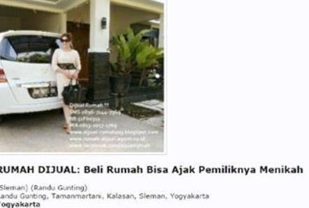 Iklan Beli Rumah Bisa Menikahi Pemilik Penjualnya