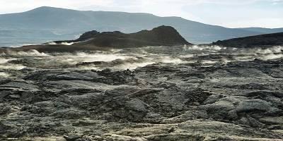 Pintu Gerbang Menuju Neraka di Kaldera Krafla Islandia Iceland