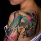 Tattoo Burung 3D di Lengan