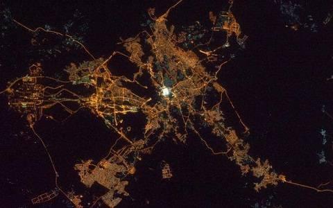 Foto Unik Pemandangan Kota Mekah Madinah Dari Luar Angkasa Atas Bumi