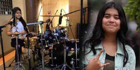 Cewek Drummer Grup Band Paling Tercantik