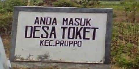 Nama Desa Paling Unik di Indonesia