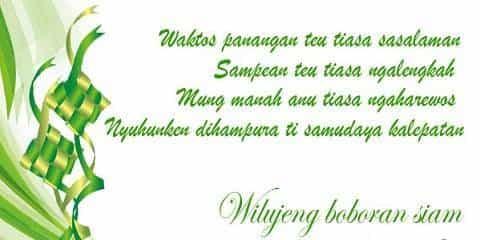 Ucapan Lebaran Idul Fitri Bahasa Sunda